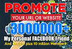 promote your URL on 30 million social Members