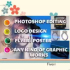 do any Photoshop image editing of 5 images 24 hrs