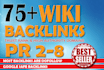 create 75 Wiki Backlinks High PR