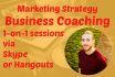 do 1 on 1 Business Coaching to improve your marketing strategy