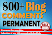 do 800 Blog Comments With Backlinks