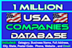 give you 1million US Companies Database