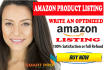 create an Amazon SEO Selling Description Or Listing