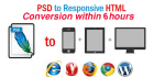 convert Psd to Html within 6 hours