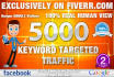 create Keywords targeted google organic traffic camping
