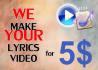 make lyrics music video