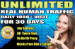 drive real unlimited website,USA,traffic,30k visitors for 30 days