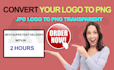 convert your logo to transparent PNG