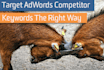 give 3 competitors Adwords Keywords and Rankings