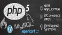 develop websites in php and WordPress