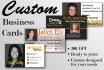 design a custom business card