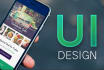 do mobile app ui and website UI design