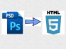 convert PSD to html5 and css3 with responsive