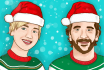 draw you a beautiful christmas portrait