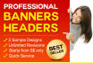 design a Professional Web Banner, Header, Ad
