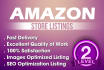 list 10 Amazon products or optimize your listings with SEO