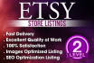 list 15 etsy products or optimize your listings with SEO