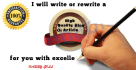 manually rewrite 1 article of 500 words