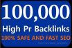 provide 100,000 SEO Backlinks, to Website Improving