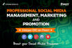 professional Social Media Management, Marketing and Promotion