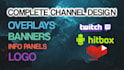 create overlays, panels and banners for your Twitch channel