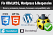 fix bugs of html,css, bootstrap, javascript, jquery