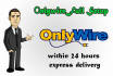 do extra fast onlywire setup and save your time