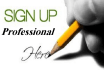 do professional sign up of any website