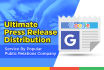 distribute press release to Releasewire and Google News