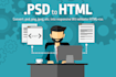 convert your psd  png jpg to responsive html and css