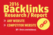 provide backlink report for competitor or any website