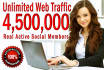 promote your link via 4,500,000 Active Social Members