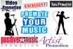 promote your MUSIC to 15 of My Website