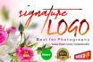 design elegant signature and handwritten style logo