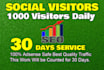 drive daily 1000 website traffic,real visitors to your site or blog
