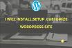 install,setup ,customize WordPress site