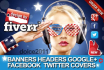 style any banner, header, facebook timeline, google cowl, new twitter cow