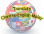 translate Chinese to English and Malay or vice versa