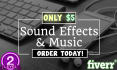find and give you the sound effect,music you need