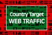 send country targetweb traffic,