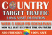 send country targetweb site traffic,