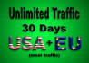 send real Unlimited Website TRAFFIC to your website