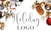 create a beautiful holiday logo