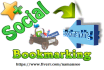 do Manual Social bookmarking upto 40 sites