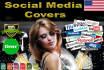 design google, Twitter, LinkedIn or YouTube Banner art for your channel
