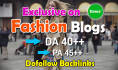 do guest post in 40 DA Hq Fashion blog