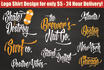 design a Creative typography logo or tshirt in this style