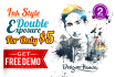 design Double Exposure in INK Style with Free Demo