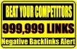 999,999 Tier2 SEO, Negative Backlinks warning for main site
