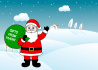 put your name or logo on Santa Claus Gift Bag